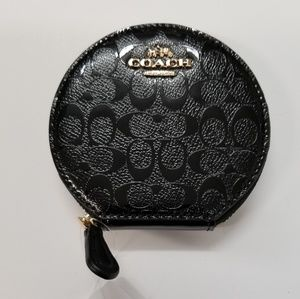 RARE NWT SIGNATURE COIN PURSE WALLET ROUND